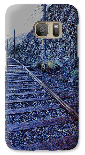 Galaxy Case featuring the photograph Gently Winding Tracks by Jeff Swan