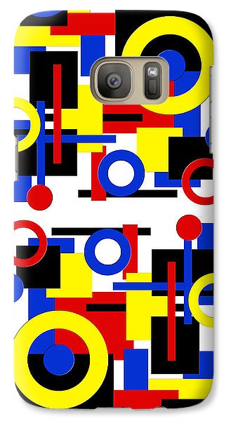 Galaxy Case featuring the digital art Geometric Shapes Abstract V 1 by Andee Design