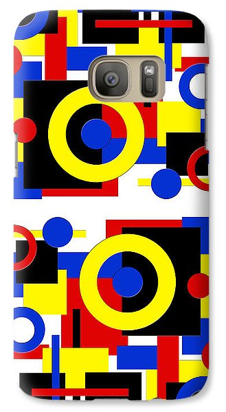Galaxy Case featuring the digital art Geometric Shapes Abstract V 2 by Andee Design