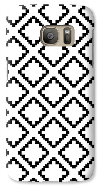 Geometricsquaresdiamondpattern Galaxy S7 Case by Rachel Follett