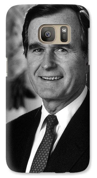 George Bush Sr Galaxy S7 Case by War Is Hell Store