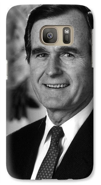 George Bush Sr Galaxy S7 Case by War Is Hell Store