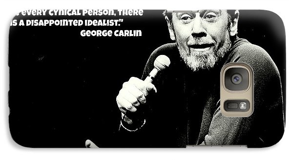 George Carlin Art  Galaxy S7 Case