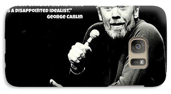 George Carlin Art  Galaxy Case by Pd