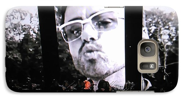 Galaxy Case featuring the photograph George Michael Sends A Kiss by Toni Hopper