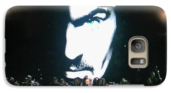 Galaxy Case featuring the photograph George Michael's Eye Appeal by Toni Hopper