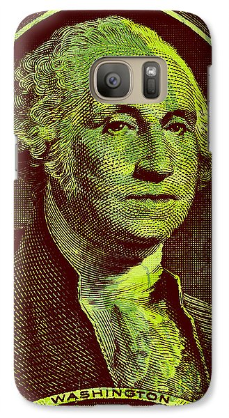 Galaxy Case featuring the digital art George Washington - $1 Bill by Jean luc Comperat