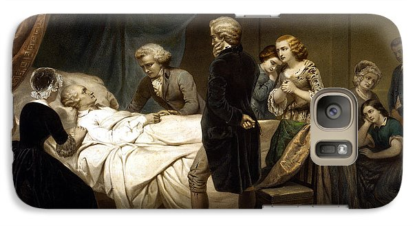 Galaxy Case featuring the painting George Washington On His Deathbed by War Is Hell Store