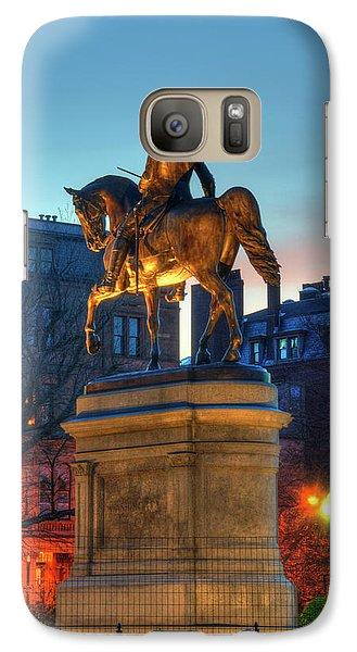 Galaxy Case featuring the photograph George Washington Statue In Boston Public Garden by Joann Vitali