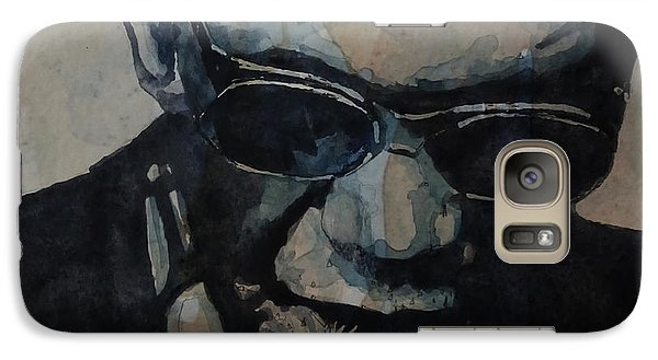 Rock And Roll Galaxy S7 Case - Georgia On My Mind - Ray Charles  by Paul Lovering