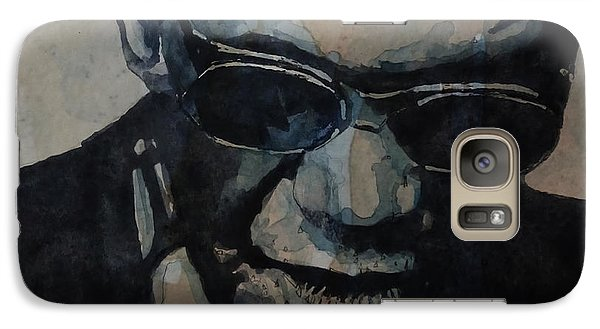 Galaxy Case featuring the painting Georgia On My Mind - Ray Charles  by Paul Lovering