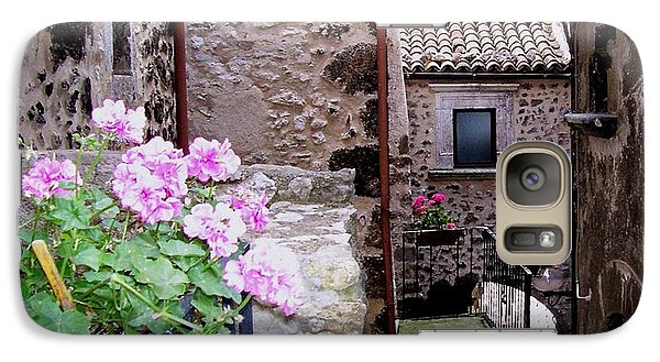Galaxy Case featuring the photograph Geraniums by Judy Kirouac
