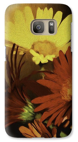 Galaxy Case featuring the photograph Gerbera Daisies Painterly by Diane Schuster
