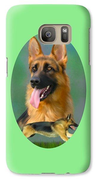German Shepherd Breed Art Galaxy S7 Case