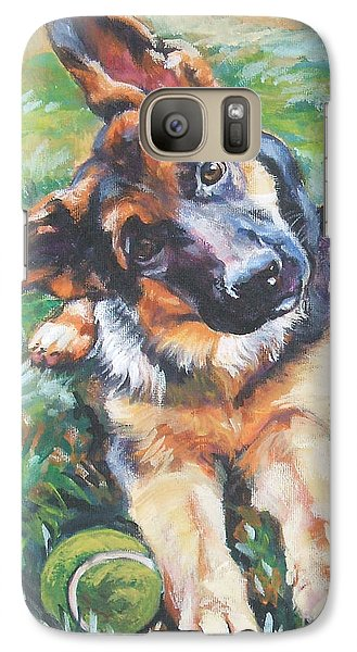 German Shepherd Pup With Ball Galaxy S7 Case