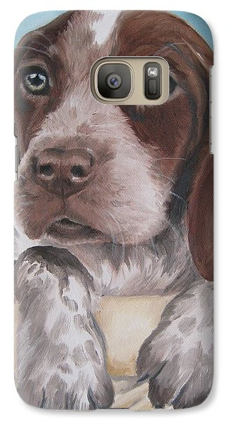 Galaxy Case featuring the painting German Shorhaired Pointer Puppy by Jindra Noewi