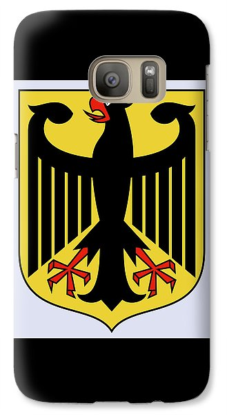 Galaxy Case featuring the drawing Germany Coat Of Arms by Movie Poster Prints