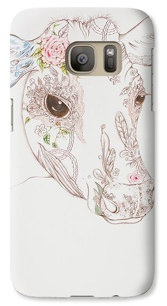 Galaxy Case featuring the drawing Gersey by Karen Robey