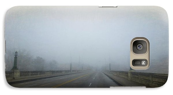 Galaxy Case featuring the photograph Gervais Bridge Christmas Day by Steven Richardson