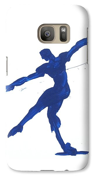 Galaxy Case featuring the painting Gesture Brush Blue 2 by Shungaboy X