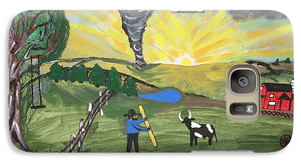 Galaxy Case featuring the painting Get In The Barn by Jeffrey Koss