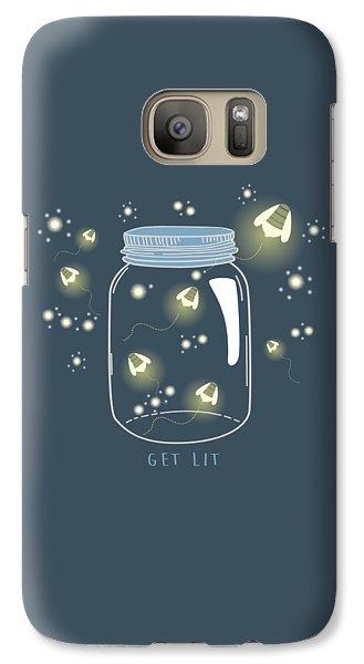 Galaxy Case featuring the digital art Get Lit by Heather Applegate