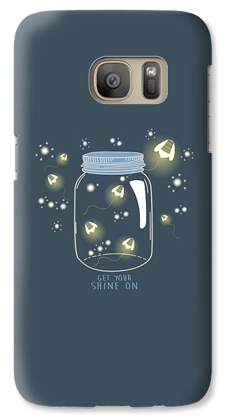 Galaxy Case featuring the digital art Get Your Shine On by Heather Applegate