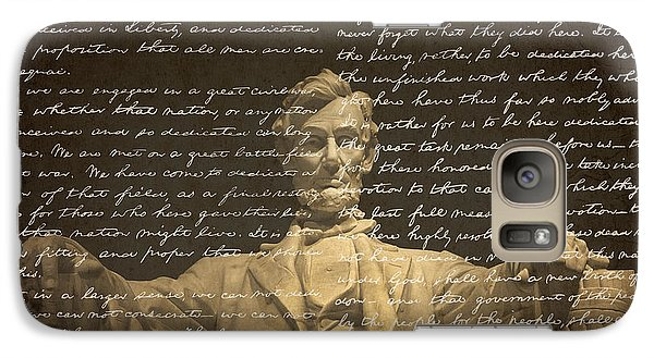 Lincoln Memorial Galaxy S7 Case - Gettysburg Address by Diane Diederich