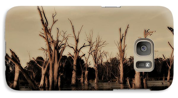 Galaxy Case featuring the photograph Ghostly Trees V2 by Douglas Barnard