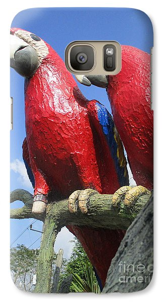 Giant Macaws Galaxy Case by Randall Weidner