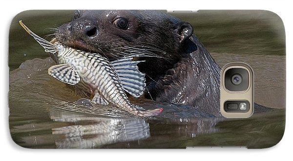 Galaxy Case featuring the photograph Giant Otter #1 by Wade Aiken