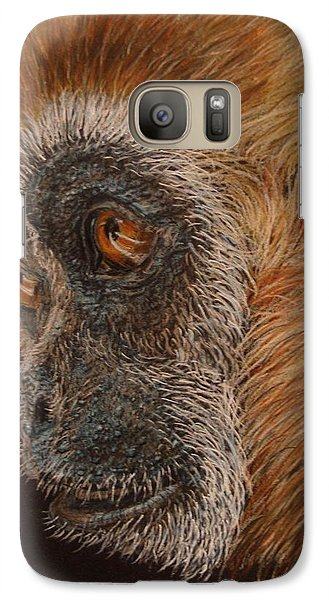 Galaxy Case featuring the drawing Gibbon by Karen Ilari