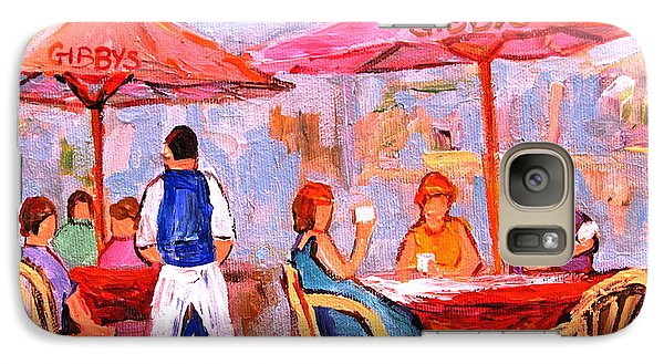 Galaxy Case featuring the painting Gibbys Cafe by Carole Spandau