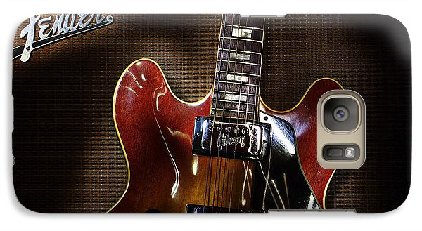 Galaxy Case featuring the digital art Gibson 335 by Jim Mathis