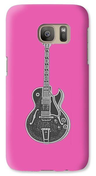 Gibson Es-175 Electric Guitar Tee Galaxy S7 Case by Edward Fielding