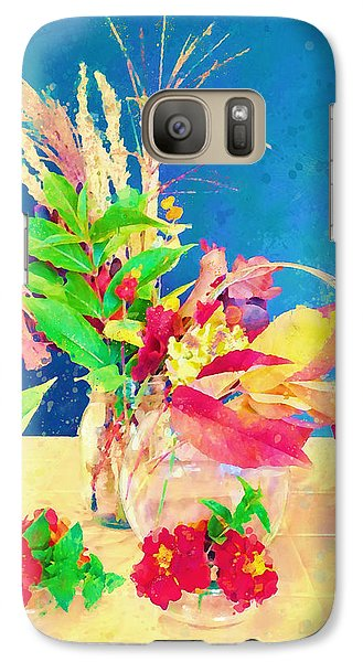 Galaxy Case featuring the digital art Gifts From The Yard Watercolor by Christina Lihani