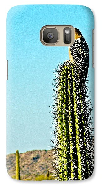 Gila Woodpecker On Saguaro In Organ Pipe Cactus National Monument-arizona Galaxy Case by Ruth Hager