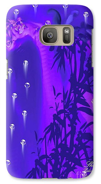 Galaxy Case featuring the painting Gilly The Giraffe-by Sherri Of Palm Springs by Sherri  Of Palm Springs