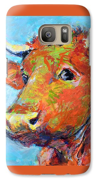 Galaxy Case featuring the painting Ginger Horn by Mary Schiros