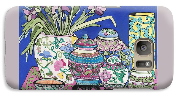 Galaxy Case featuring the painting Ginger Jars by Rosemary Aubut