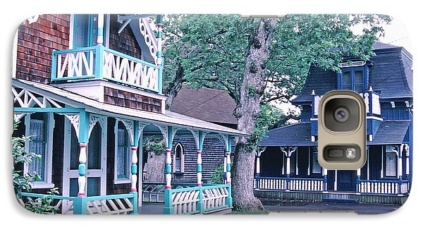 Galaxy Case featuring the photograph Gingerbread Houses Oak Bluff Martha's Vineyard by Tom Wurl