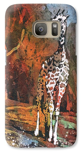 Galaxy Case featuring the painting Giraffe Batik II by Ryan Fox