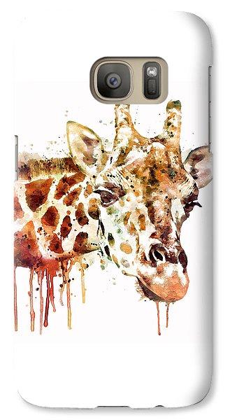 Giraffe Head Galaxy S7 Case by Marian Voicu