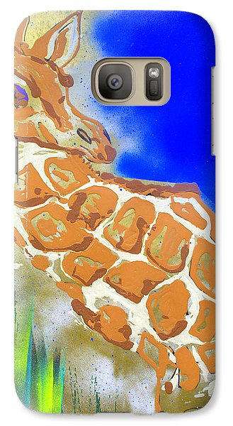 Galaxy Case featuring the painting Giraffe by J R Seymour