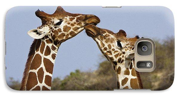 Giraffe Kisses Galaxy S7 Case