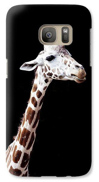 Giraffe Galaxy S7 Case by Lauren Mancke