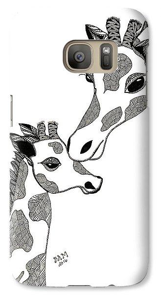 Giraffe Mom And Baby Galaxy S7 Case