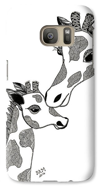 Giraffe Mom And Baby Galaxy S7 Case
