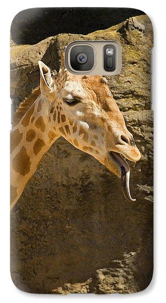 Raspberry Galaxy S7 Case - Giraffe Raspberry by Mike  Dawson