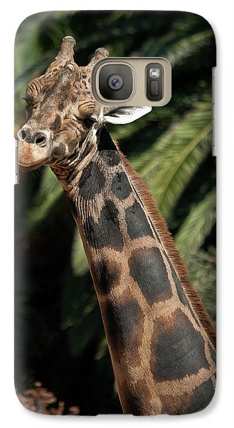 Galaxy Case featuring the photograph Giraffe Study 2 by Roger Mullenhour